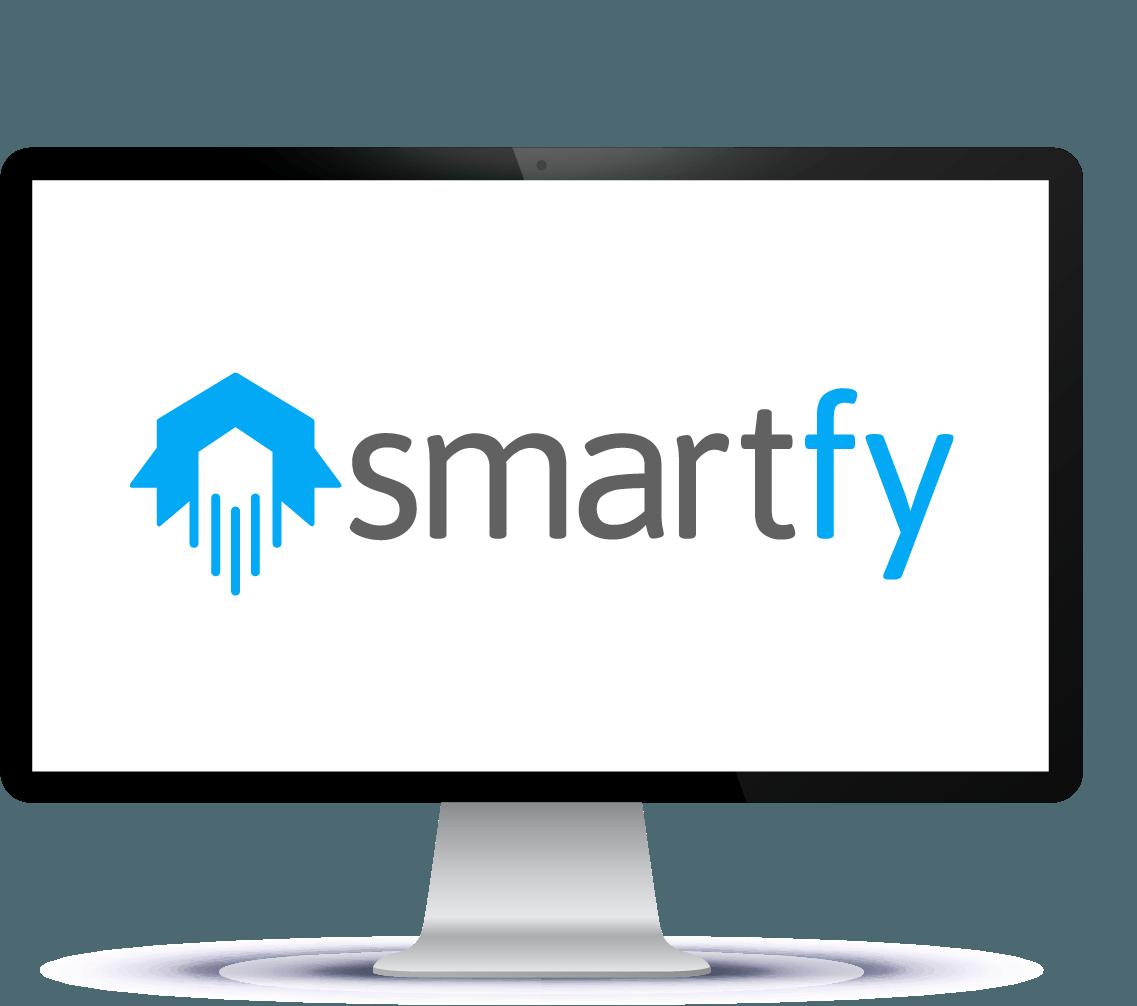 Ilustração de monitor com Smartfy na tela